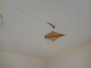 damage- ceiling bed 1
